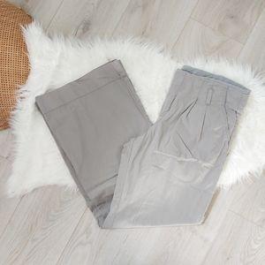 Gap Pleated Grey Ankle Length Pants